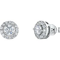 shop for Jools by Jenny Brown Pavé Surround Round Cubic Zirconia Stud Earrings at Shopo