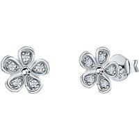 Jools by Jenny Brown Five Petal Pave Stud Earrings