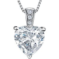 shop for Jools by Jenny Brown Rhodium Plated Silver Cubic Zirconia Heart Shaped Pendant at Shopo