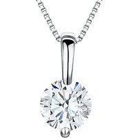 Jools by Jenny Brown Rhodium Plated Silver Cubic Zirconia Solitaire Pendant