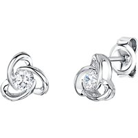 shop for Jools by Jenny Brown Rhodium Plated Silver Cubic Zirconia Flower Drop Earrings at Shopo