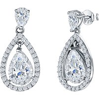 shop for Jools by Jenny Brown Pavé Surround Tear Drop Earrings at Shopo