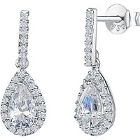 shop for Jools by Jenny Brown Pavé Set Bar and Tear Drop Earrings at Shopo