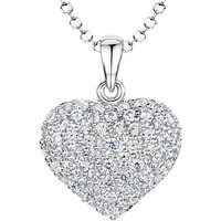 shop for Jools by Jenny Brown Rhodium Plated Silver Cubic Zirconia Bubbly Heart Pendant at Shopo