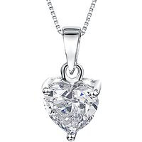 shop for Jools by Jenny Brown Small Heart Cubic Zirconia Pendant Necklace, Silver at Shopo