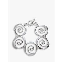 Andea Sterling Silver Sculptured Spirals Bracelet