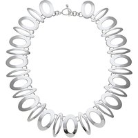 Andea Sterling Silver Art Deco Statement Necklace