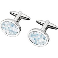 shop for John Lewis & Partners Mother of Pearl Mosaic Cufflinks, Mother of Pearl/Silver at Shopo