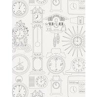Mini Moderns Tick Tock Wallpaper