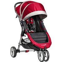 Baby Jogger City Mini 3 Wheel Pushchair, Crimson