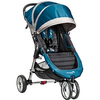 Baby Jogger City Mini 3 Wheel Pushchair, Teal/Grey