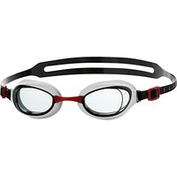 Speedo Aquapure Swimming Goggles, Black/Red