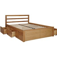 House by John Lewis Ollie Storage Bed, King Size, Oak