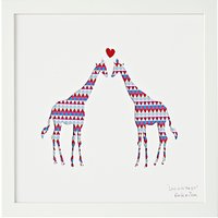 Bertie & Jack Love is in the Air Giraffe Framed Cut-out, 27.4 x 27.4cm