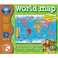 Orchard Toys World Map Jigsaw Puzzle & Poster