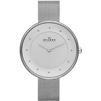 Skagen SKW2140 Womens Klassik Mesh Bracelet Strap Watch, Silver