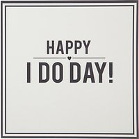 Alice Scott Happy I Do Day Wedding Card