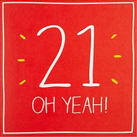 Happy Jackson 21 Oh Yeah! Birthday Card