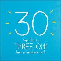 Happy Jackson The Big 3-oh Birthday Card