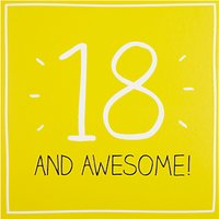 Happy Jackson 18 And Awesome Birthday Card