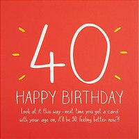Happy Jackson 40th Happy Birthday Card