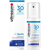 Ultrasun SPF 30 Sports Transparent Sun Protection Spray, 150ml