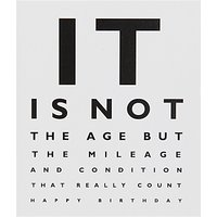 Portfolio It Is Not The Age Birthday Card