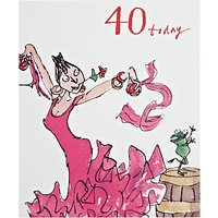 Woodmansterne Dancing Queen 40th Birthday Card