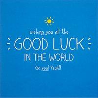 Happy Jackson Good Luck Card