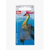 Prym Fine Embroidery Needles, 3-9, Pack of 16