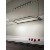 Elica Hidden 60 Built-In Cooker Hood, Stainless Steel/ White Glass