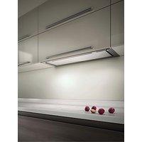 Elica Hidden 120 Built-In Cooker Hood, Stainless Steel/ White Glass