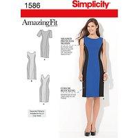 Simplicity Amazing Fit Dresses Dressmaking Leaflet, 1586, BB