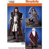 Simplicity Costume Dressmaking Leaflet, 1552, A