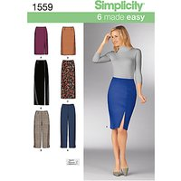 Simplicity 6 Made Easy Skirts & Trousers Sewing Pattern, 1559