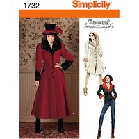Simplicity Costume Coat Sewing Pattern, 1732