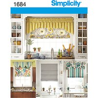 Simplicity Blinds Sewing Pattern, 1684