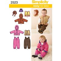 Simplicity Babies Outerwear Sewing Pattern, 2523, A