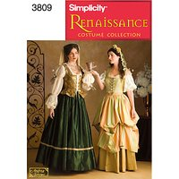 Simplicity Costume Dressmaking Leaflet, 3809