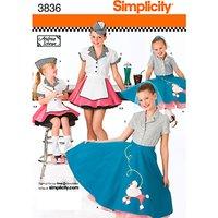 Simplicity Children Costume Dressmaking Leaflet, 3836, HH