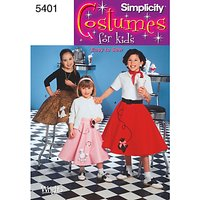 Simplicity Children Costume Dressmaking Leaflet, 5401