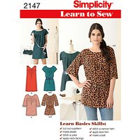 Simplicity Learn to Sew Dresses Dressmaking Leaflet, 2147, A