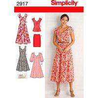 Simplicity Womens Dress Sewing Pattern, 2917