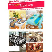 Simplicity Table Top Accessories Sewing Pattern, 5530