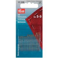 Prym Assorted Hand Sewing Needles, Sizes 5-9, Pack of 20