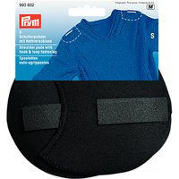Prym Black Set-In Shoulder Pads With Hook And Loop, Small