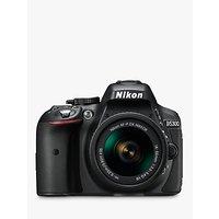Nikon D5300 Digital SLR Camera with 18-55mm VR Lens, HD 1080p, 24.2MP, Wi-Fi, 3.2 Screen