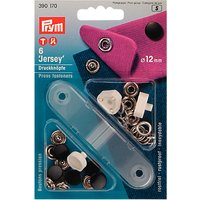Prym Jersey Press Fasteners, 12mm, Black