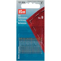 Prym Betweens Needles, Size 9, Pack of 20