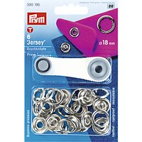 Prym Non-sew Jersey Fasteners, Pack of 6, 18mm